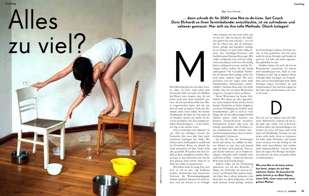 magazin emotion 02 2020 artikel selbstcoaching not do do liste01 doris ehrhardt textett portfolio muenchen 1024x652 - Zeitmanagement: Not-to-do-Liste