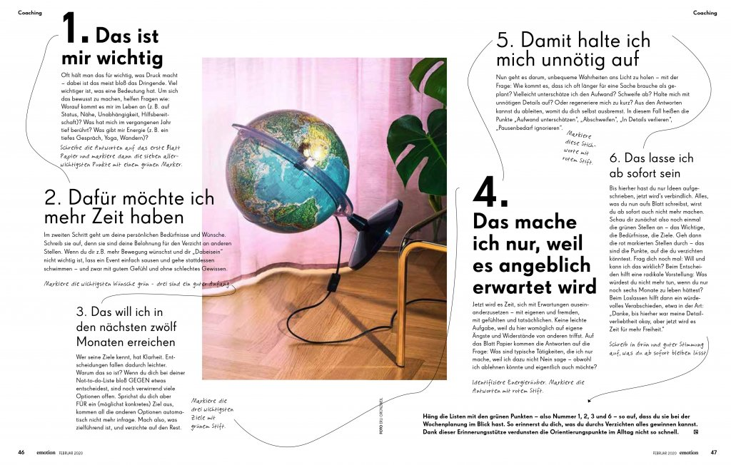 magazin emotion 02 2020 artikel selbstcoaching not do do liste02 doris ehrhardt textett portfolio muenchen 1024x652 - Zeitmanagement: Not-to-do-Liste