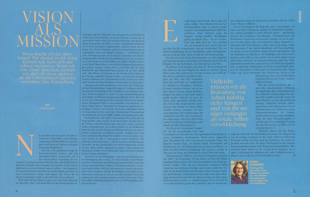 magazin emotion 07 2020 essay sinn im job purpose von unternehmen doris ehrhardt textett portfolio muenchen 1024x652 - Sinnfragen und Purpose im Job