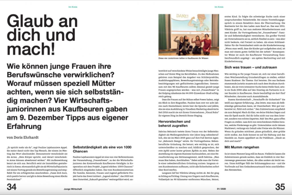magazin junge wirtschaft heft 02 2020 bericht von doris ehrhardt textett muenchen  1024x683 - Tipps für junge UnternehmensgründerInnen